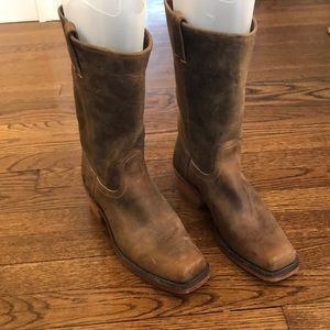 Frye brown boots size 9
